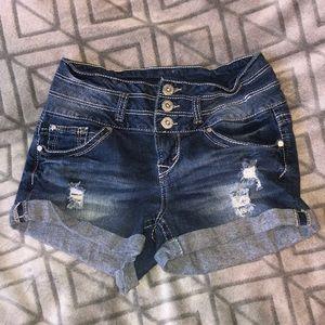 Wallflower Medium Blue Short Shorts